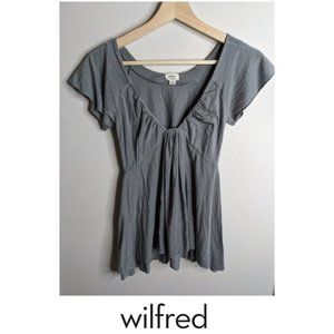 3 for $20 - Aritzia Wilfred | Flutter sleeve top